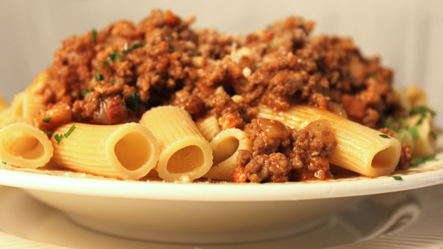 Pasta with Sauce Bolognese