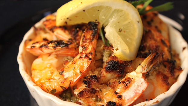 Broiled Shrimp Piccata Scampi