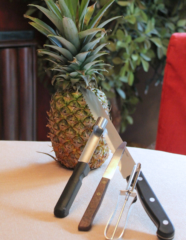 Tools for Cleaning and Coring a Pineapple