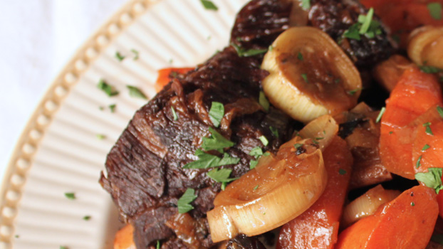 Braised Asian Beef Short Ribs with Soy and Ginger