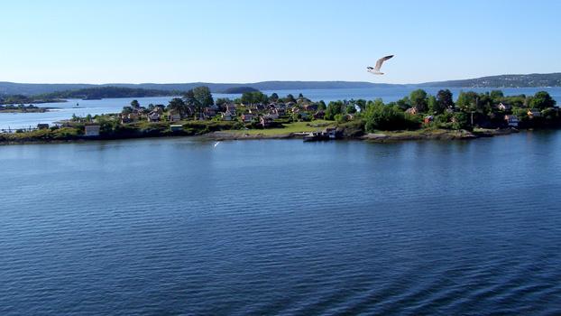 Entering Oslo Through Fjords!