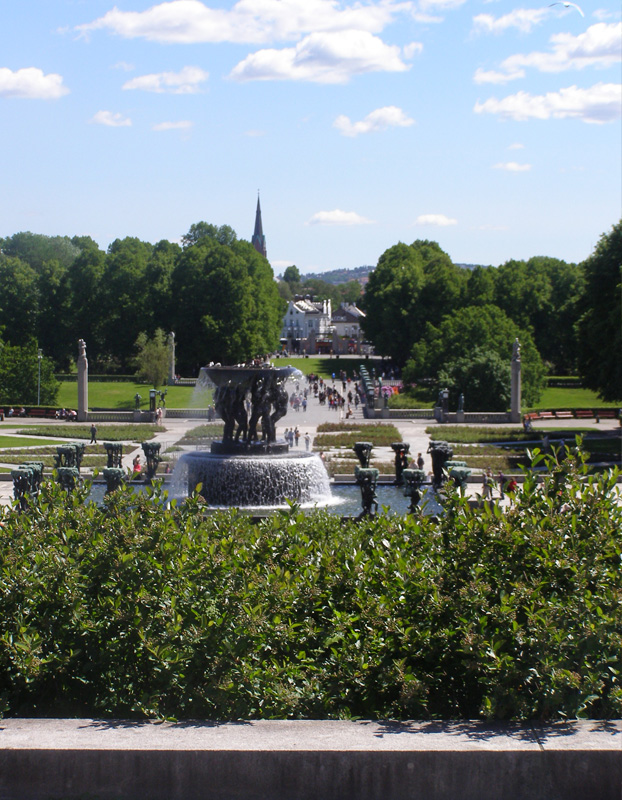 The view of the park from the Obelisk at Vigeland ParkOslo, Norway