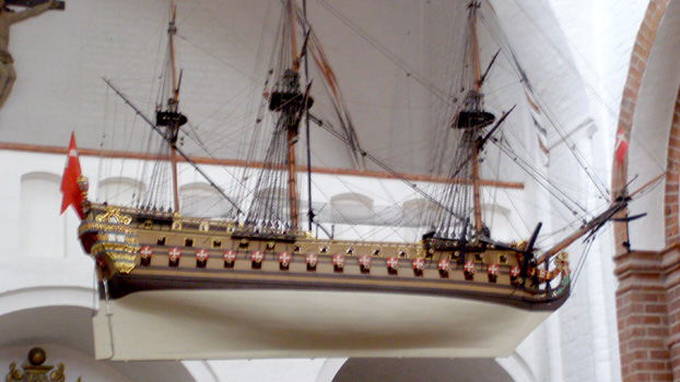 "The Votive Ship ""Unity"" – Ships hung in churches symbolize human life from cradle to grave."