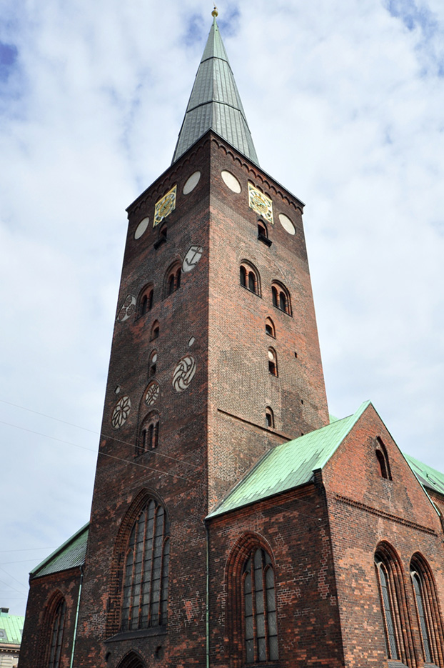 The Aarhus CathedralThe cathedral is dedicated to St. Clemens, who was the Roman Pope 100 a.d.
