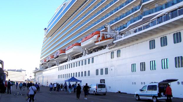 Boarding The Regal Princess in Copehagen, Denmark.