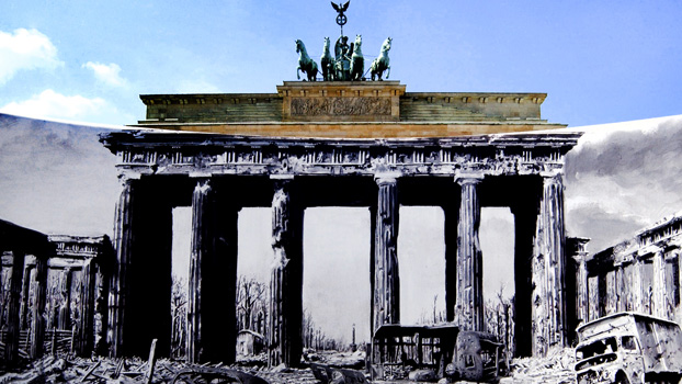 The Brandenburg Gate was fully restored from 2000 to 2002.