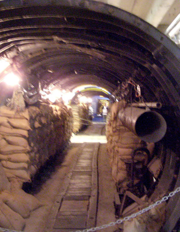 Bomb tunnels and bunkers are located below street level throughout Berlin.