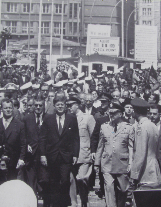In 1963 President Kennedy delivered a short speech that became one of his most famous. It was so well received that the square where it took place was renamed John F. Kennedy Platz.