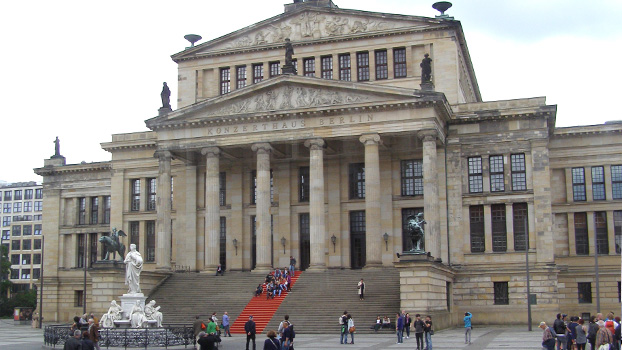 The Konzerthaus Berlin is a concert hall situated on the Gendarmenmarkt square. It was built as a theatre from 1818 to 1821 and later changed to a concert hall after the Second World War.
