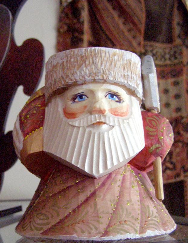 Russian Wooden Santa
