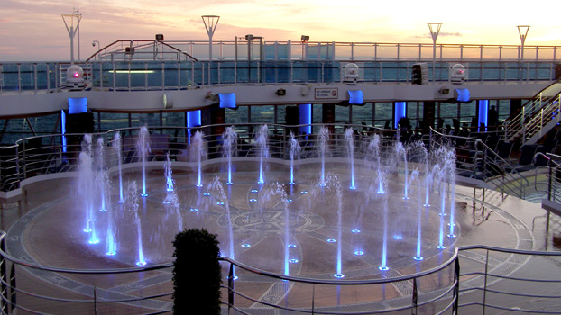 Royal Princess Water Fountain Show