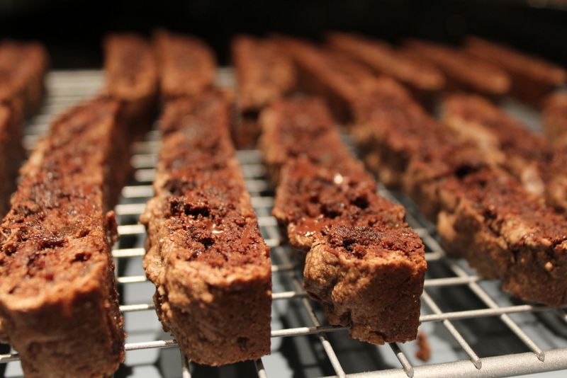 Dark Chocolate and Ginger Biscotti