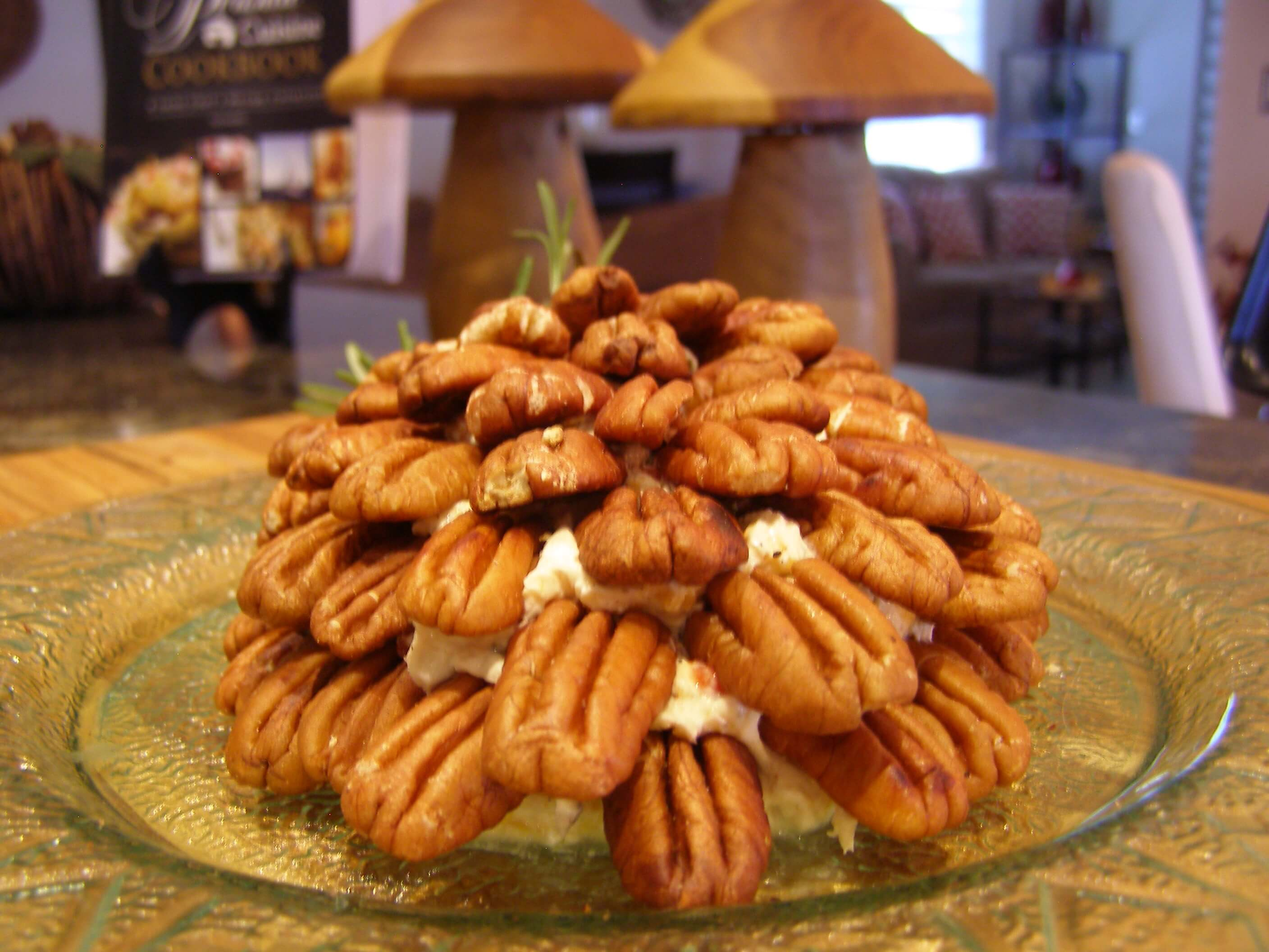 Pinecone Holiday Cheese Spread