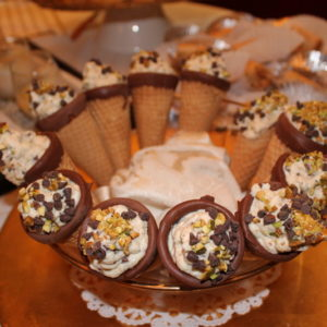 Cannoli Cones Dipped in Chocolate